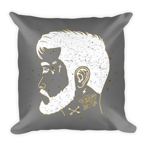 American Hipster Pillow (Gray)