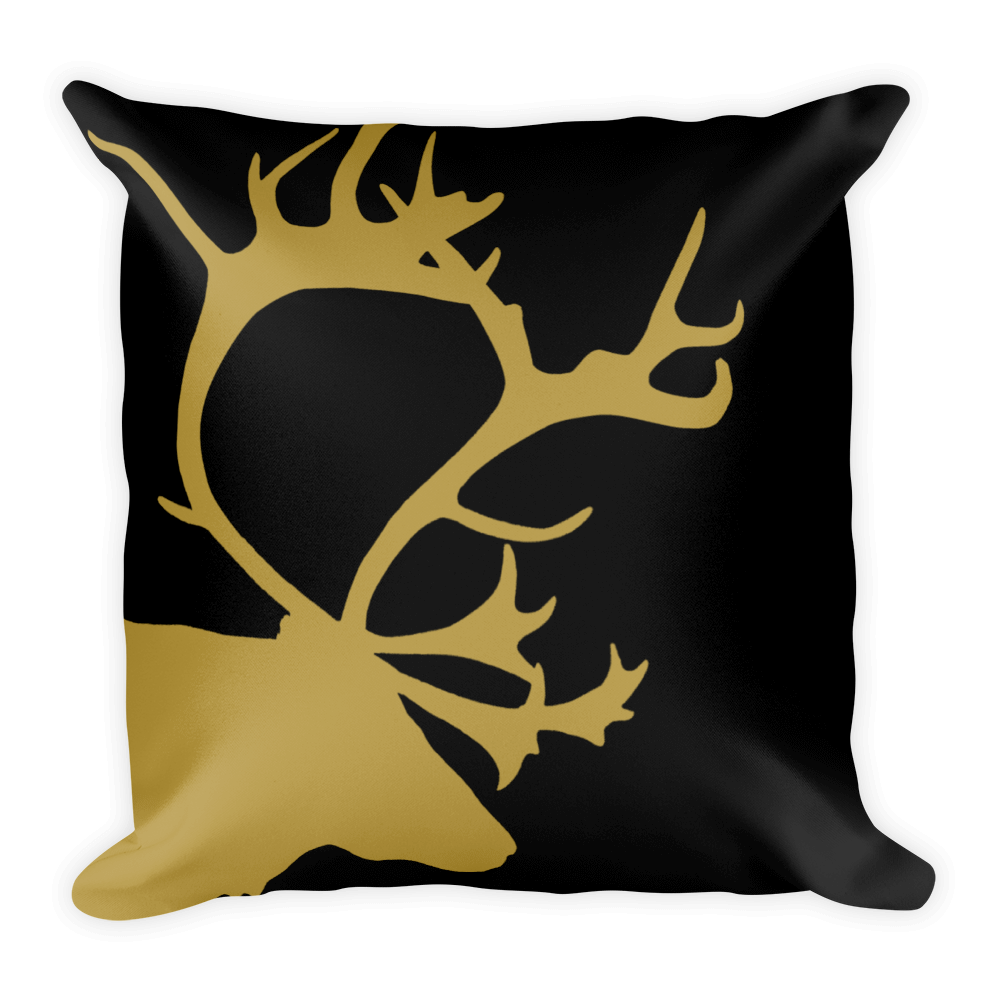 Gold Reindeer Pillow