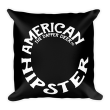American Hipster Pillow  (Black)