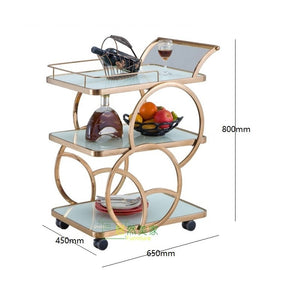 "Kitchen Trolley Cart / 80cm(31"") Handle High / Food Bar Cart"