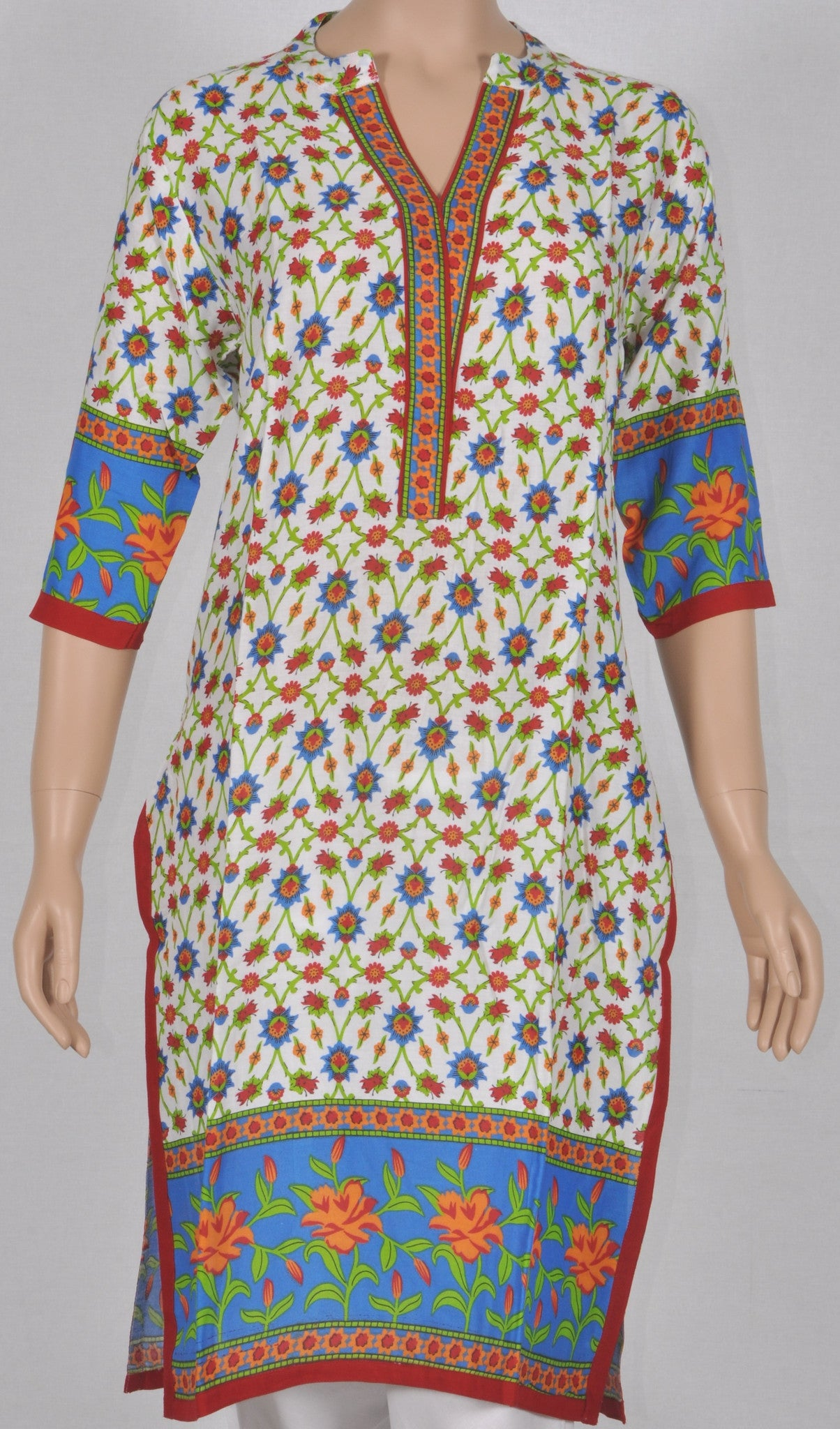 Kurta: Printed cotton, MKA01A0102