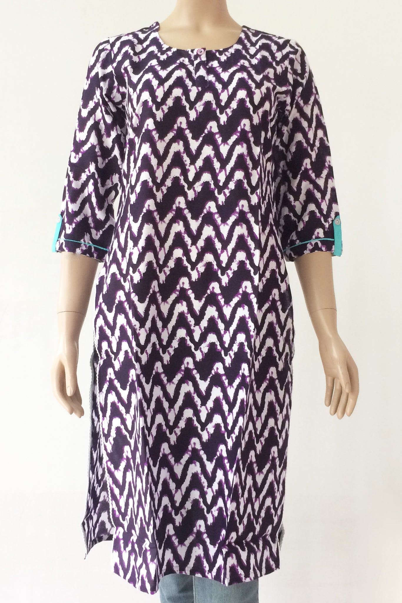 Kurta: Rayon Deep Purple, MKA01A0748