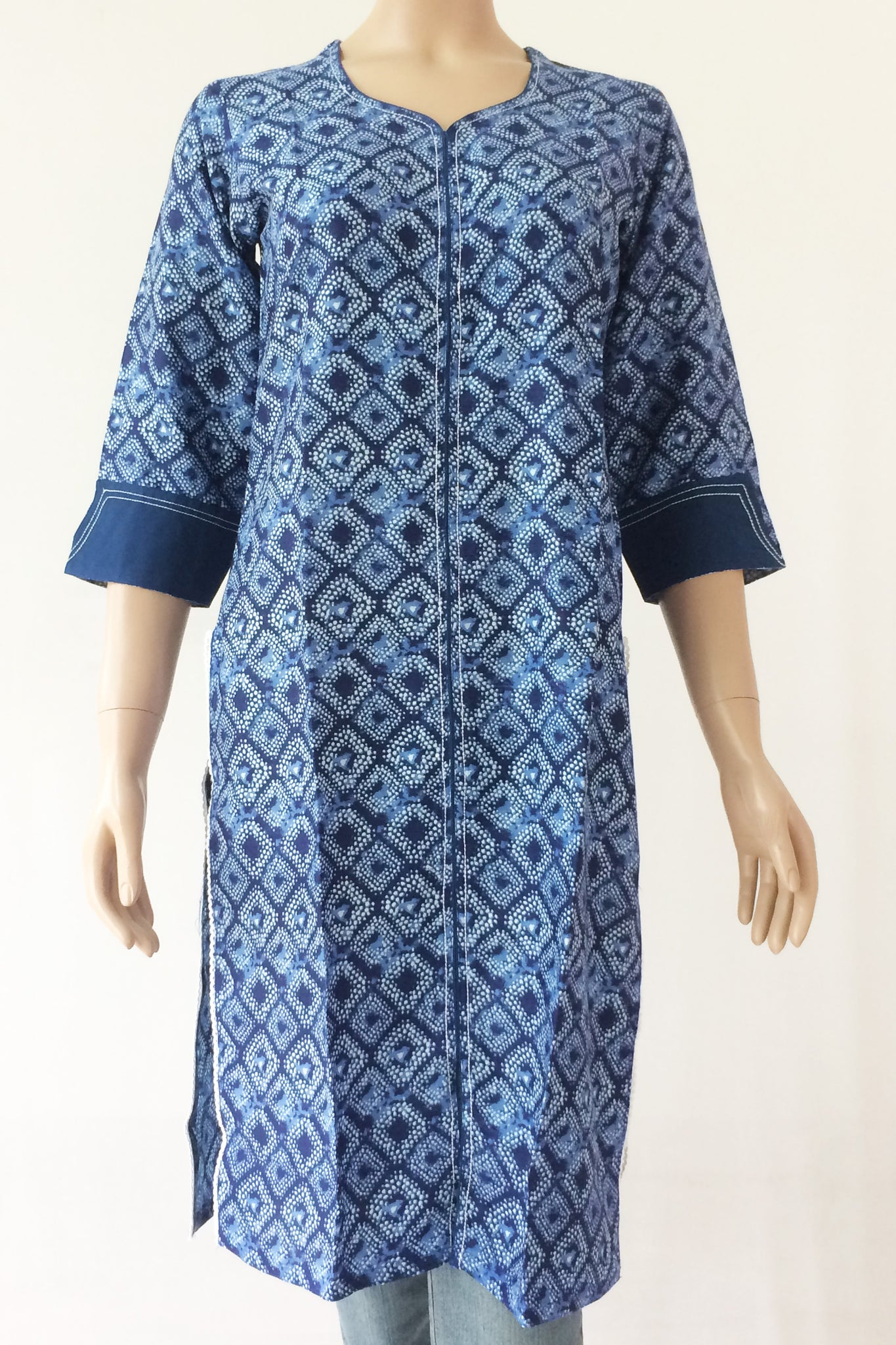 Kurta: Rayon blue diamond, MKA01A0751