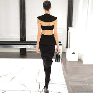 2018 New Sexy Black Cut Out Backless Bandage Dress - Kissmiss Ireland