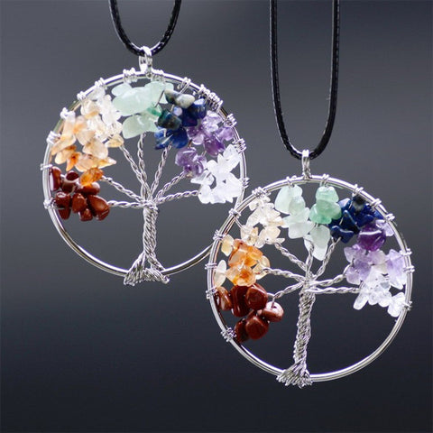 Tree of Life - Chakra Natural Stone Necklace