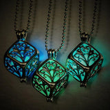 3D Cube Glow in the Dark Necklace