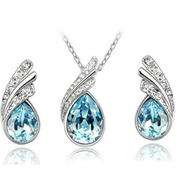 Austrian Crystal Water Droplet Set