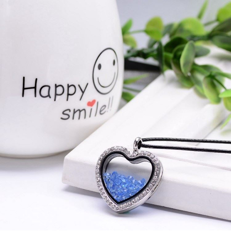 Love Heart Filled Necklace