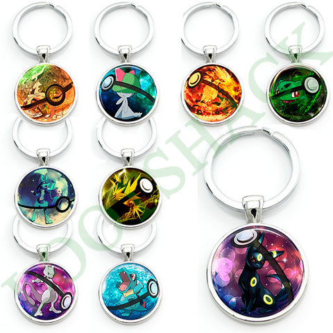 Glass Pokémon Keychain