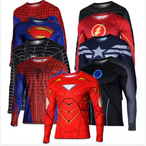 Super Hero Styled Long Sleeve Tops