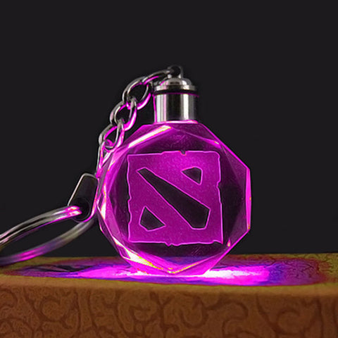 Dota 2 LED Key Chain