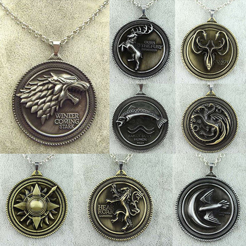 Game of Thrones Medallion Necklaces and Key Chains