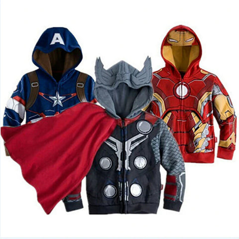 Marvel Superhero Kids Hoodies
