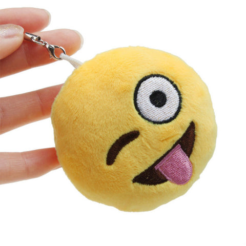 Plush Emoji Key Chain