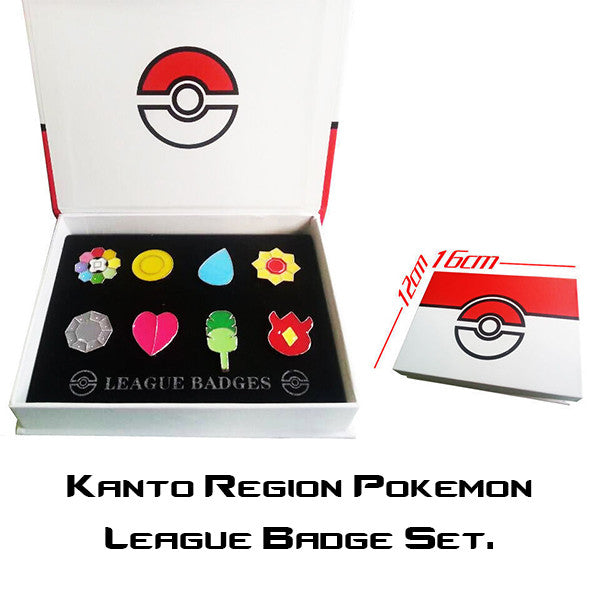 Pokemon League Badge Set