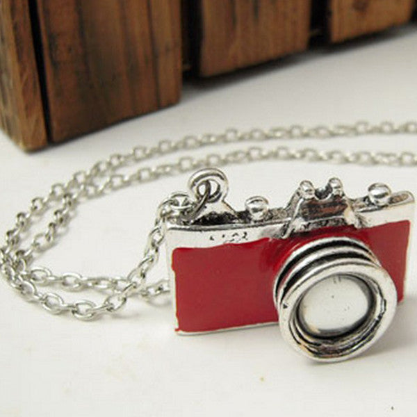Camera Pendant Necklace
