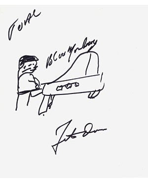 Fats Domino 8x11 Signed Drawing