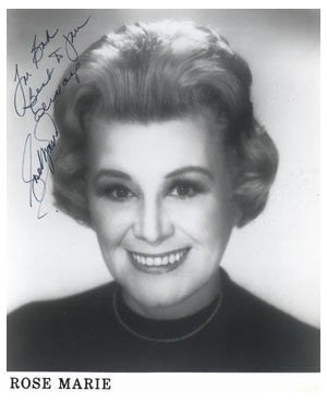 Rose Marie Autographed Photo