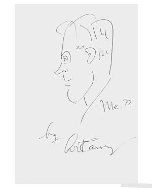 Art Carney 8x11 Signed Drawing