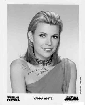 Vanna White Autographed Photo