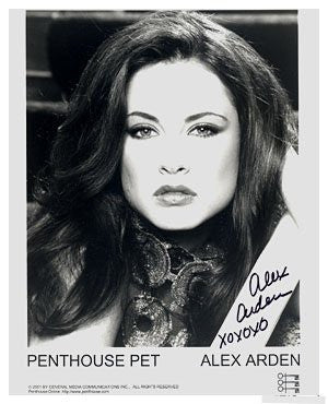 Alex Arden Penthouse Pet 8x10 Autographed Photo