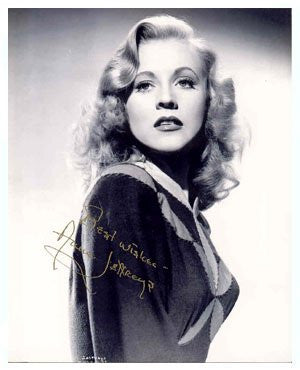 Ann Jeffreys 8x10 Autographed Photo UACC Dealer
