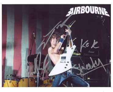 Airbourne Autographed Photo