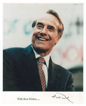 Bob Dole 8x10 Autographed Photo UACC Dealer