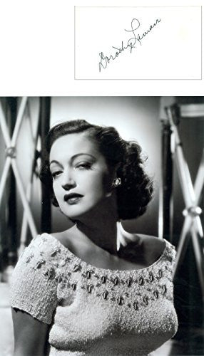 Dorothy Lamour  Autograph with Photo
