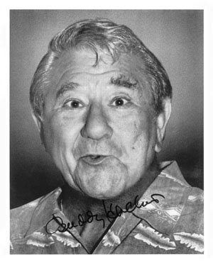 Buddy Hackett Autographed Photo