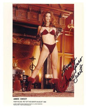 Aimee Sweet: Penthouse Pet 8x10 Autographed Photo
