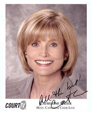 Catherine Crier 8x10 Autographed Photo UACC Dealer