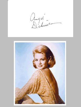 Angie Dickinson Signed Card with Photo