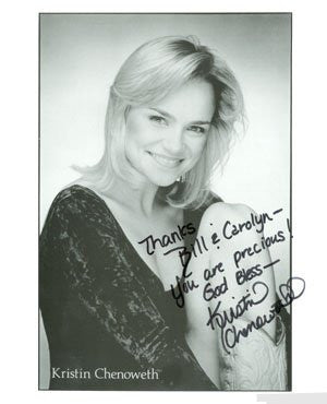 Kristin Chenoweth Autographed Photo