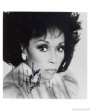 Diahann Carroll Autographed Photo