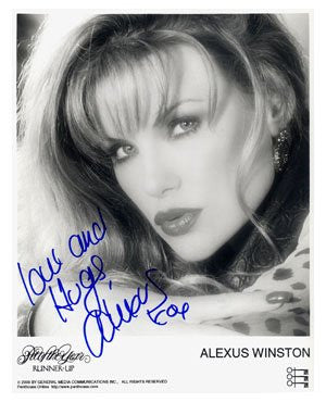 Alexus Winston Penhouse Pet 8x10 Autographed Photo