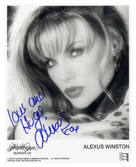 Alexus Winston Penhouse Pet Autographed Photo