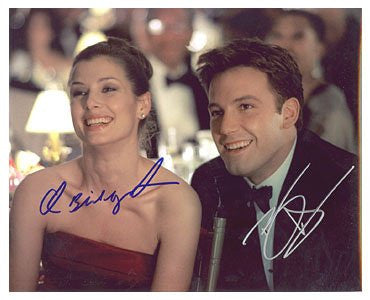 Ben Affleck  Briget Moynahan Autographed Photo