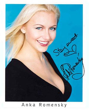 Anka Romensky 8x10 Autographed Photo UACC Dealer