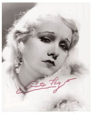Anita Page 8x10 Autographed Photo UACC Dealer