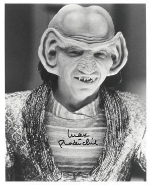 Star Trek Max Grodenchick Autographed Photo