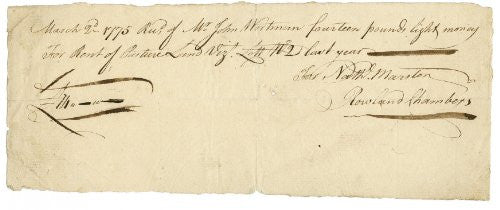 1775 Antique Signed Document UACC