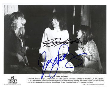 Diane Keaton & Sissy Spacek 8x10 Autographed Photo