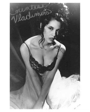 Countess Vladimira Autographed Photo