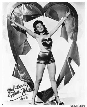 Ann Miller 8x10 Autographed Photo UACC Dealer