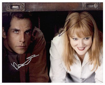 Ben Stiller  Drew Barrymore Autographed Photo