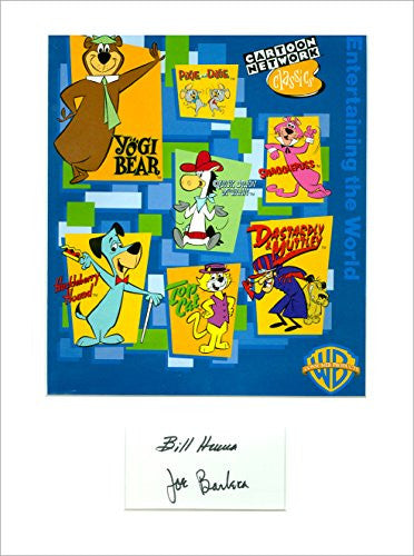 Hanna Barbera Signed Autographed Display 11x14 UACC