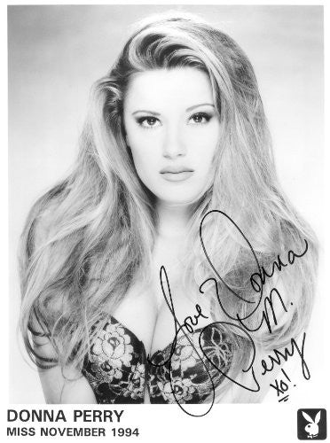 Donna Perry Playmate 1994 Autographed Photo