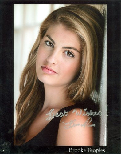 Brooke Peoples Autographed Photo
