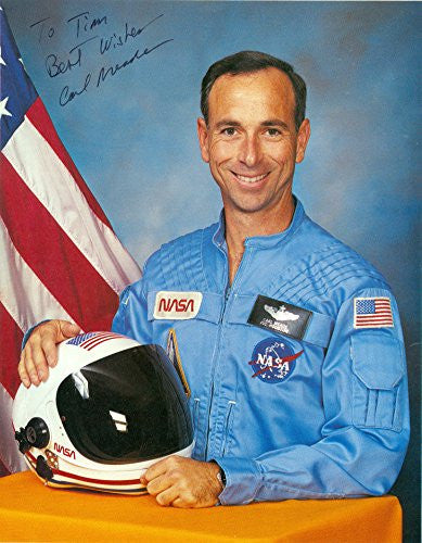 .Astronaut Carl Meade Signed Autograph 8x10 Photo UACC